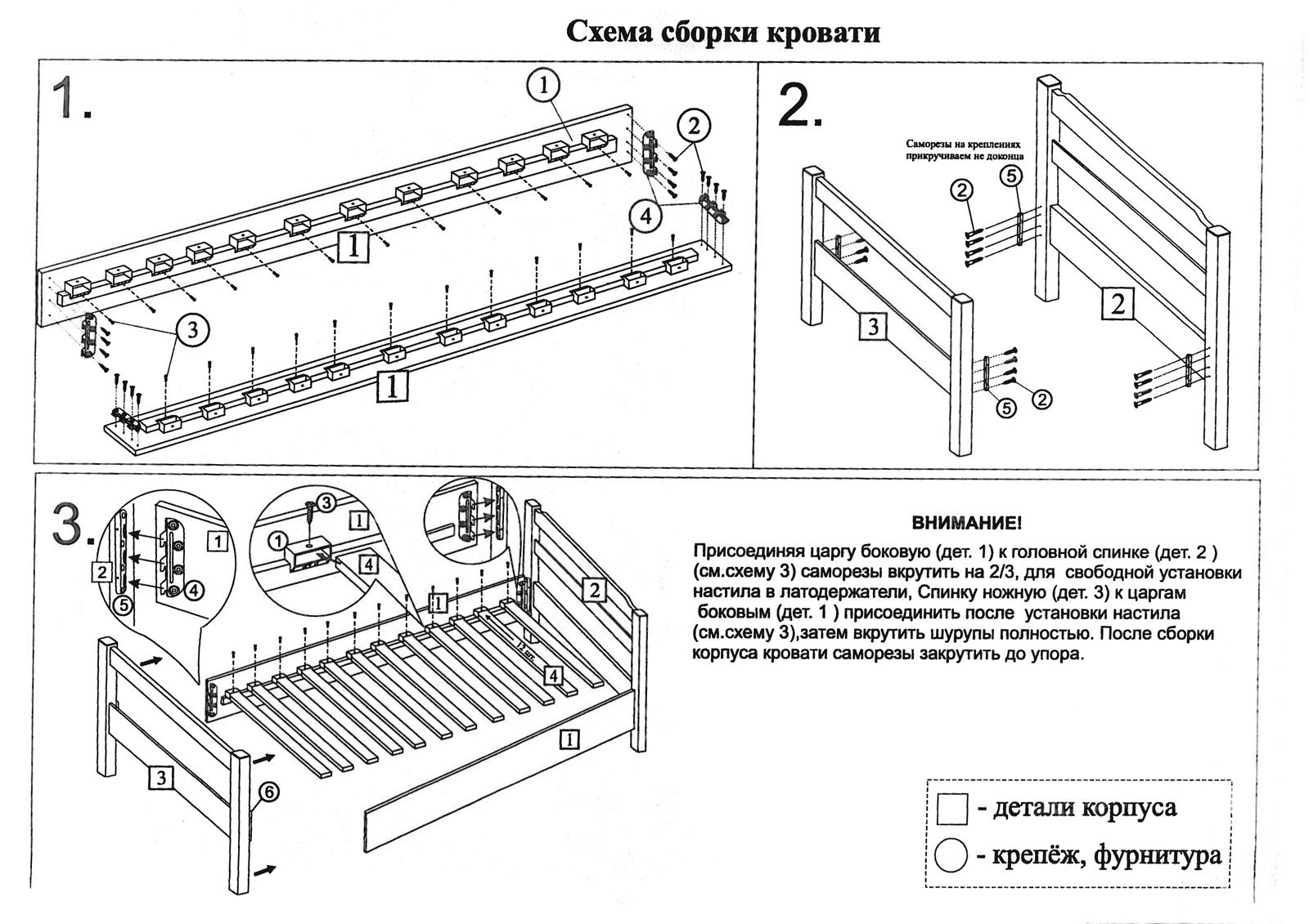 Несколько способов, как собрать кровать